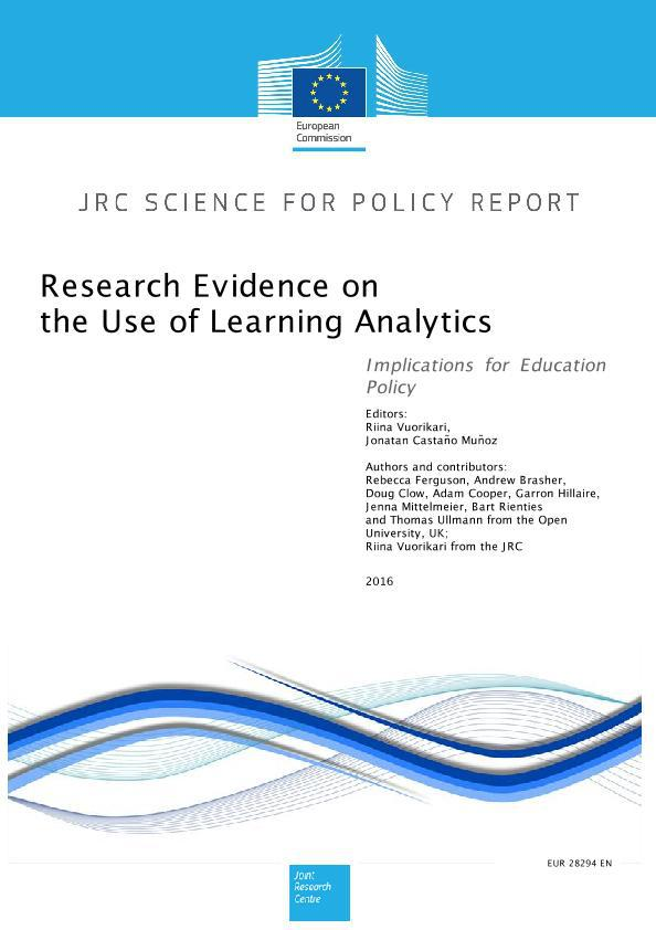 European Commission report on the use of Learning Analytics: Implications for Education Policy
